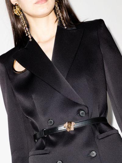 Black Palazzo Medusa leather belt