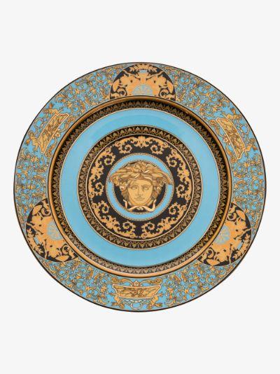 blue Medusa Rose Service plate