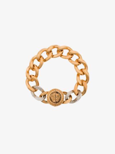 chain-link Medusa detail bracelet