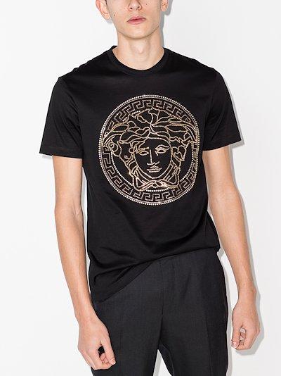 Embellished Medusa logo T-shirt