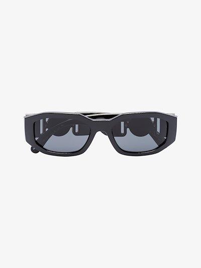 black Biggie rectangular sunglasses
