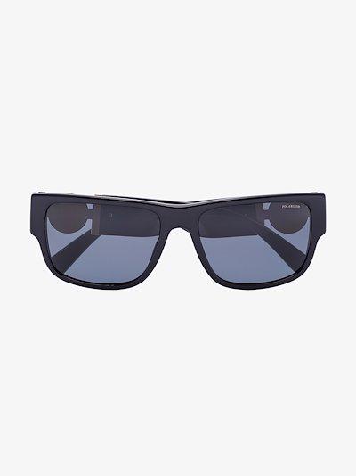 Black Medusa square sunglasses