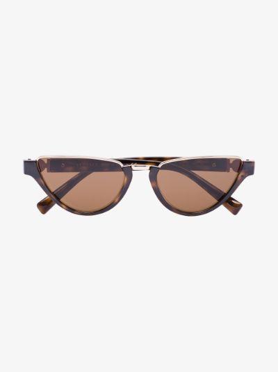 brown Medusa Medallion cat eye sunglasses