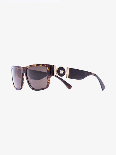 brown Medusa medallion square sunglasses