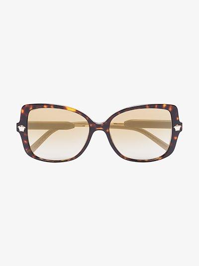 brown medusa oversized sunglasses