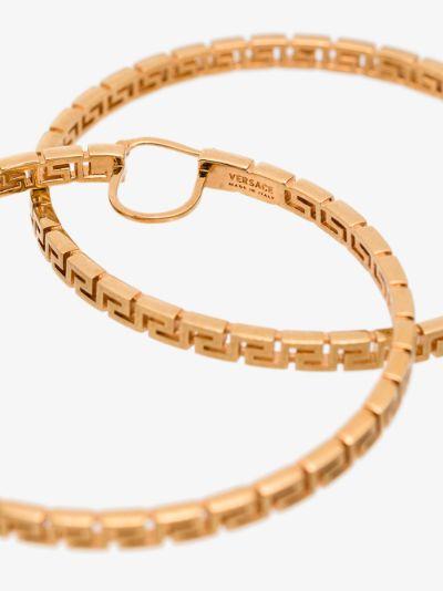 gold tone Greca hoop earrings