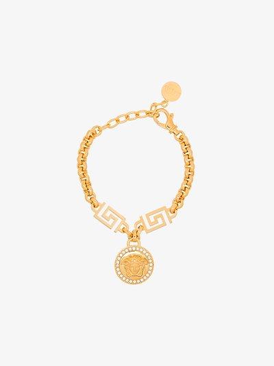 Gold tone Icon Medusa bracelet
