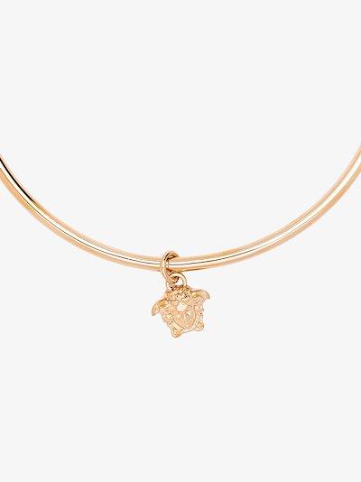 gold tone Medusa Aeternitas choker necklace