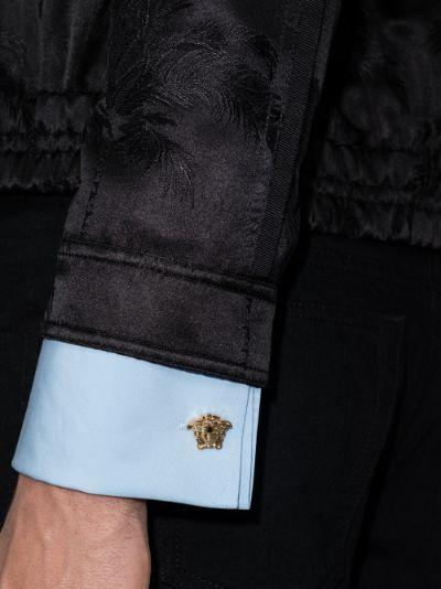 gold tone Medusa cufflinks