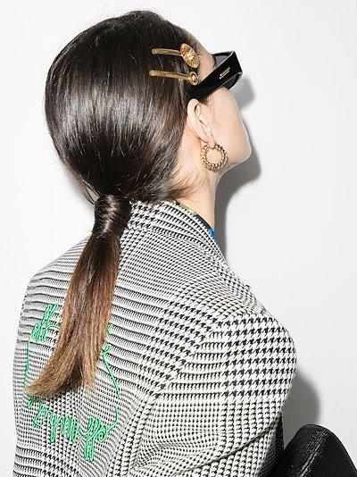 gold tone Medusa disc hair clip