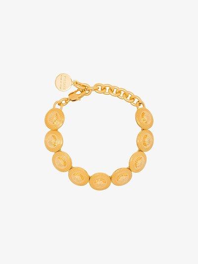 gold tone medusa medallion bracelet