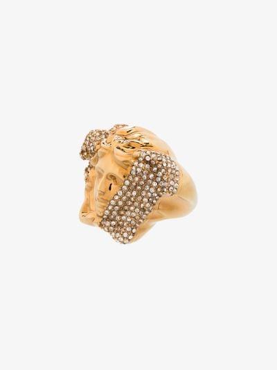 gold tone palazzo dia crystal ring