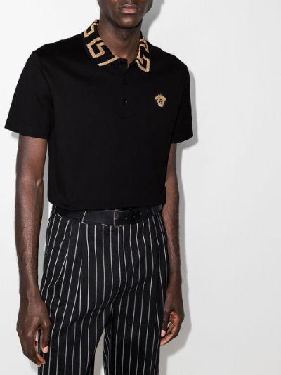 Greca collar polo shirt