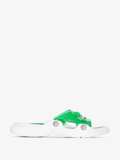 green Medusa strap PVC slides