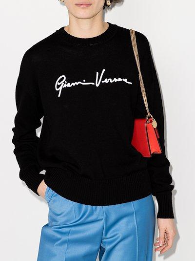 GV Signature crew neck sweater