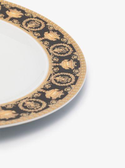 white I Love Baroque porcelain plate