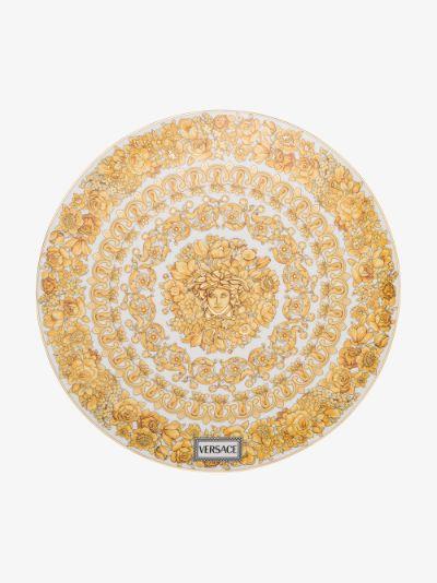 white Medusa Rhapsody porcelain plate