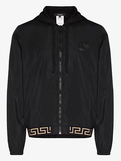 Iconic tape hooded sports jacket