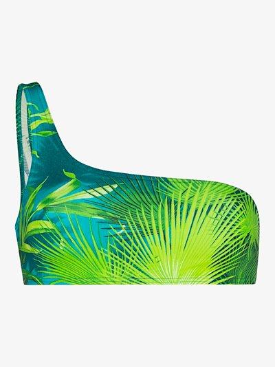 Jungle print bandeau bikini top