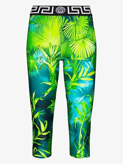 Jungle print cropped leggings