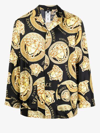 Medusa Amplified print pyjama shirt