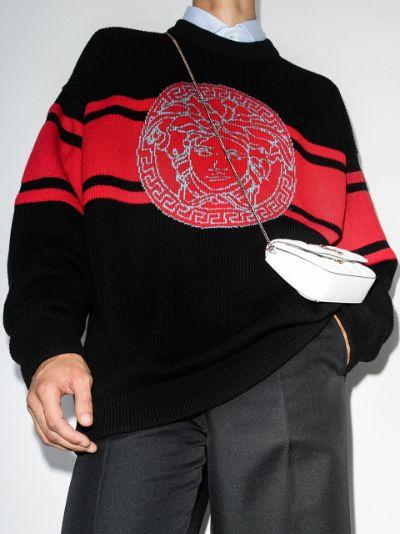 Medusa intarsia wool sweater