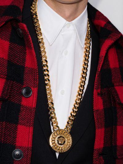 Medusa medallion chain necklace