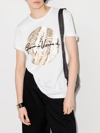Medusa metallic logo T-shirt