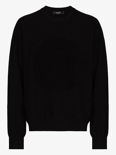 Medusa Motif Wool Sweater