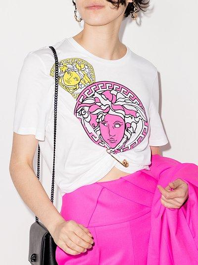 Medusa print cropped T-shirt