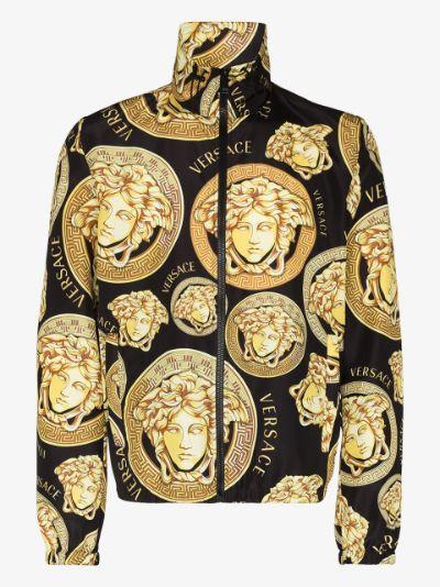 Medusa print zip-up jacket