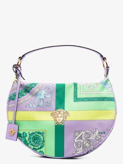 Multicoloured Baroque Print Hobo Shoulder Bag
