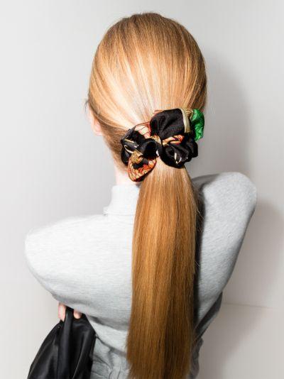 multicoloured printed scrunchie