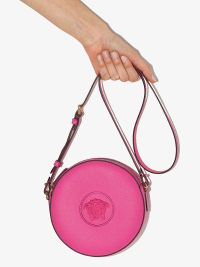 pink La Medusa round camera bag