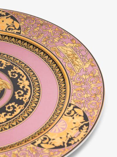 pink medusa rose service plate