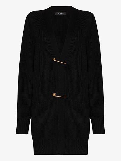 safety pin wool cardigan