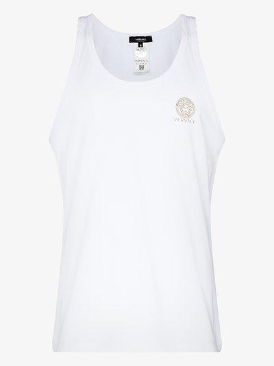 small logo cotton vest