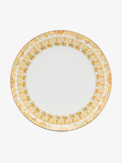 White Medusa Rhapsody porcelain dinner plate
