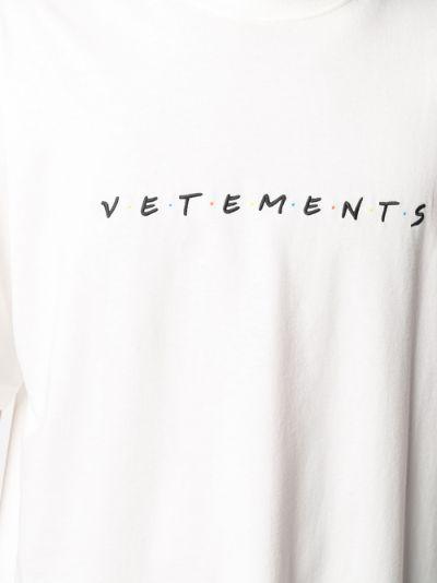 Friendly logo cotton T-shirt