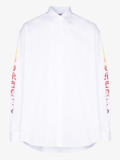 gothic logo sleeve shirt