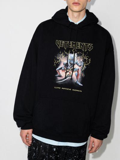 Heavy Metal print hoodie