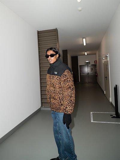 leopard print padded jacket