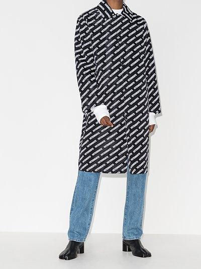 logo print raincoat