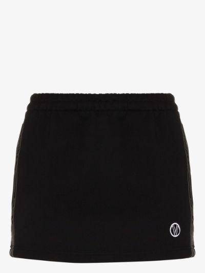 logo side tape mini skirt