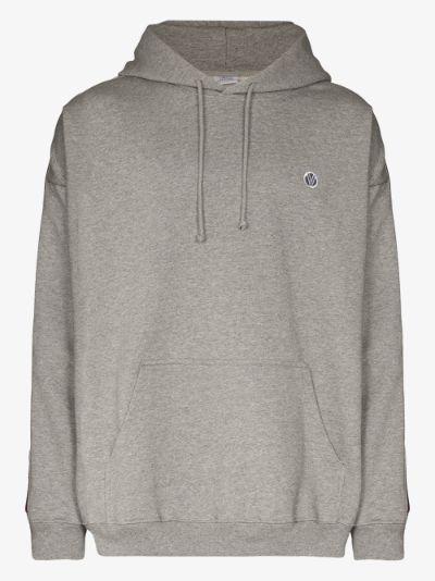 side tape logo hoodie