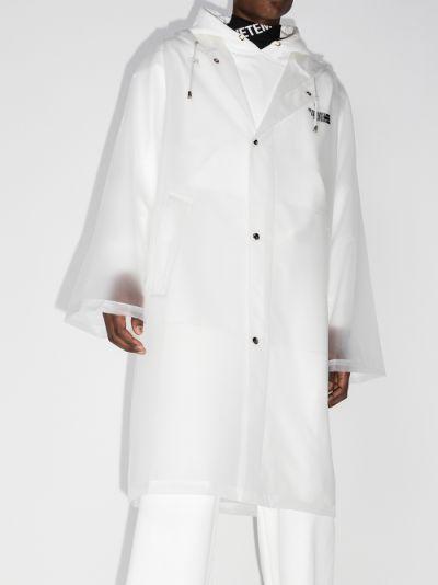 transparent logo raincoat
