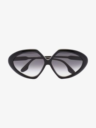 black butterfly frame sunglasses