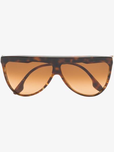 brown Flat Top V sunglasses
