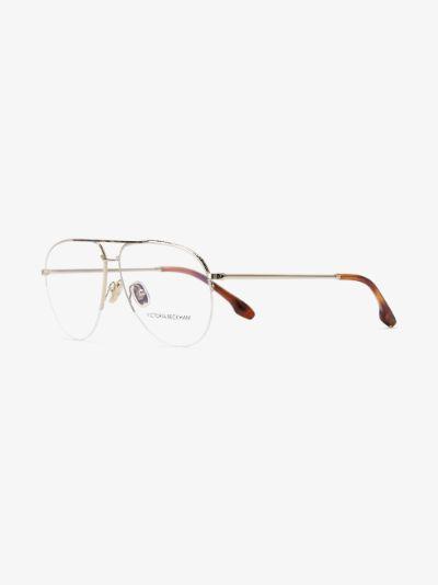 gold tone aviator optical glasses