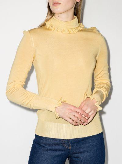 frill trim sweater